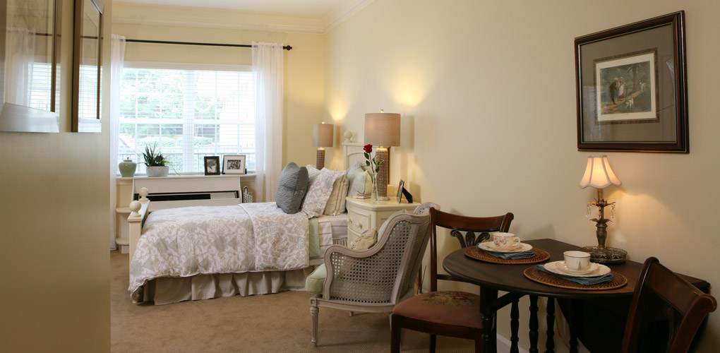 bedroom in living room assisted living model photos dogwood forest 14298