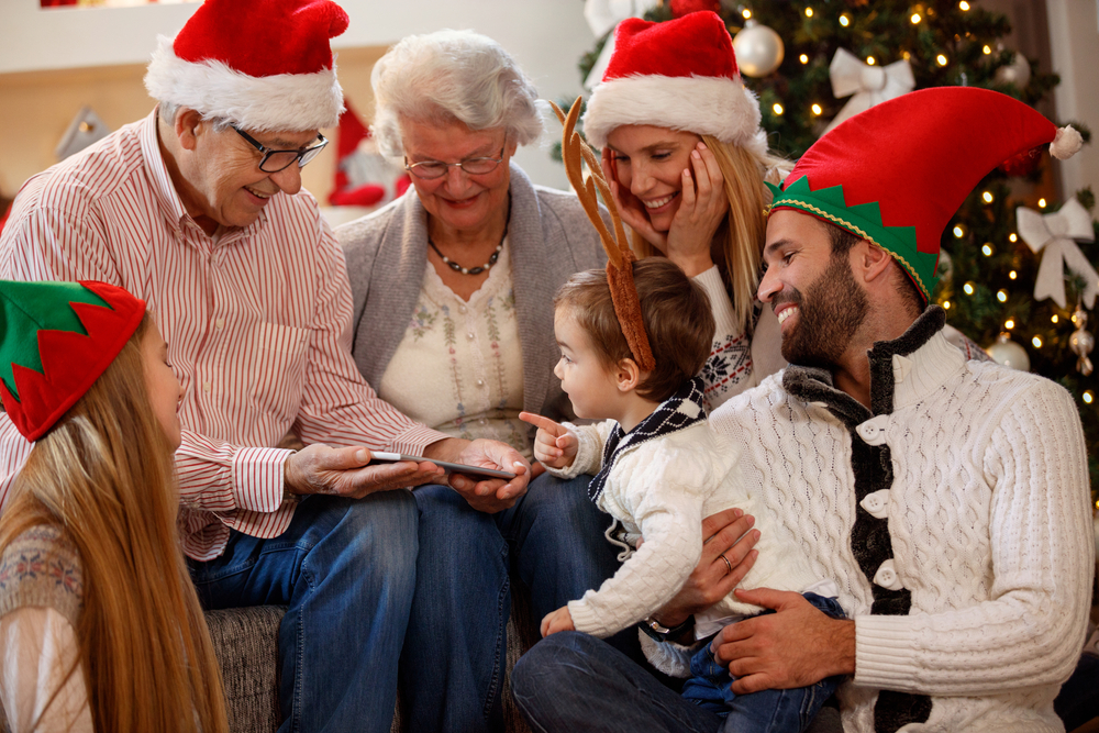happy family spending Christmas time together